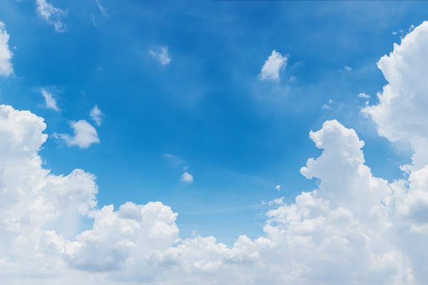 White cloud and bright blue sky